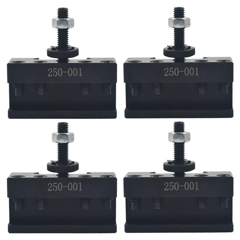 4 قطعة مجموعات 250-001 0XA التغيير السريع أداة ، تحول أداة حامل الصلب المواد حامل