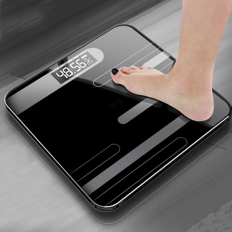 Bathroom Body Floor Scales Bath Scale Body Weighing Digital Body Weight Scale LCD Display Glass Smar