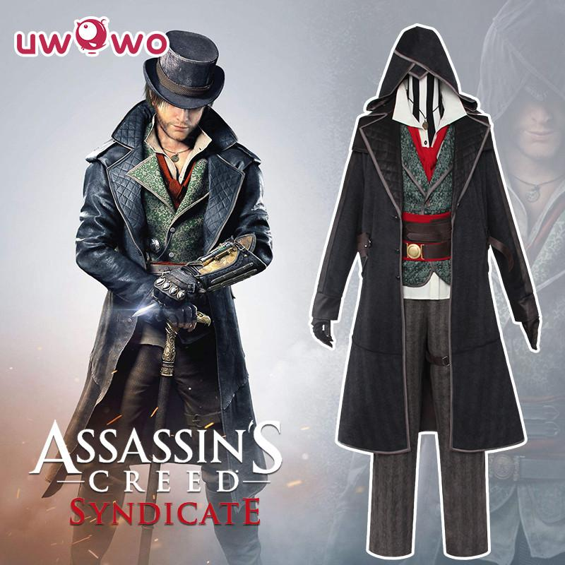 UWOWO Jacob Frye Cosplay Assassins Creed sindicato Anime Cosplay traje para los hombres asesino traje uniforme