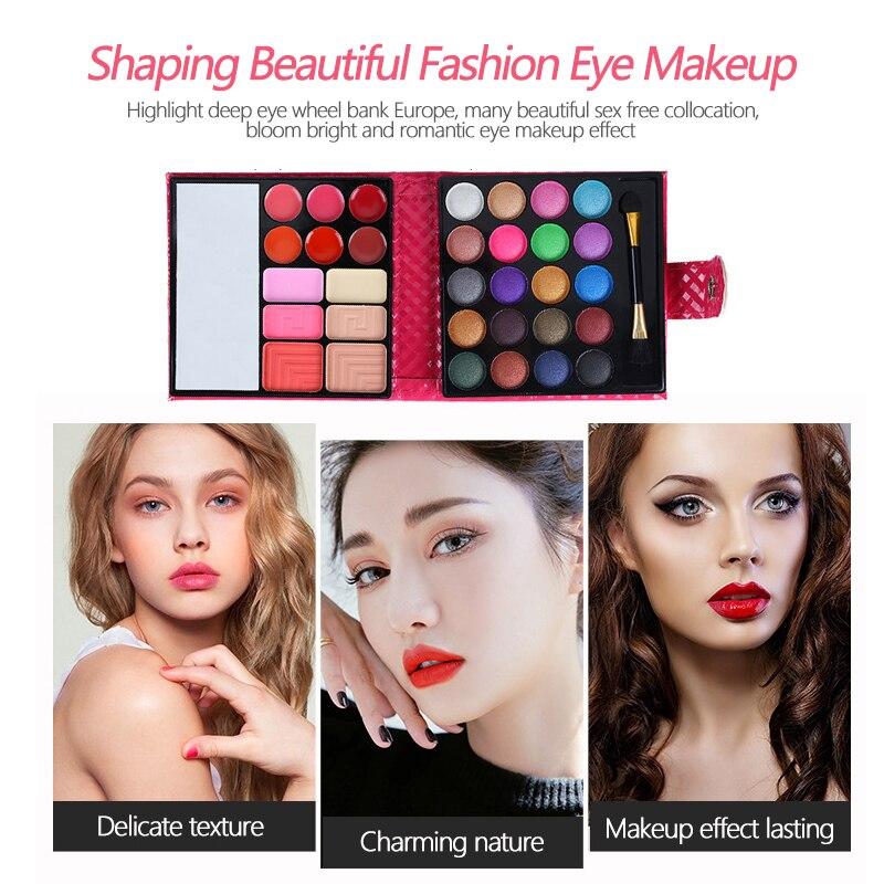 Bmeision 32 cores maquiagem sombra paleta moda facial maquiagem kit com estojo de couro cosméticos para mulher de alta qualidade tslm1