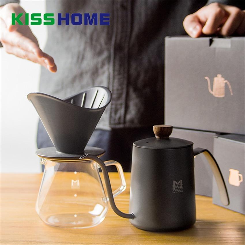 Maceta negra de malla Mavo, juego de olla contundente, taza de filtro para el hogar, taza de boca fina, olla de mano, compartir una taza de maceta