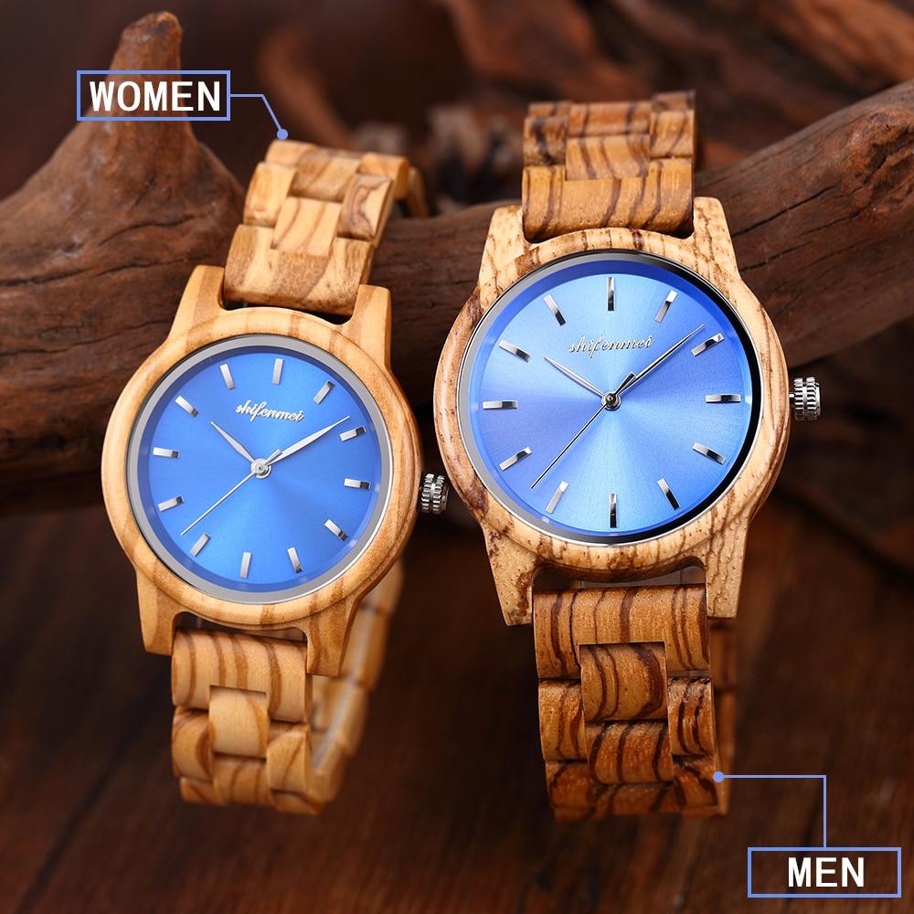 AliExpress - shifenmei Watches Mens Women Wooden Watch Quartz Couple Wristwatch Man Female Clock LOGO Customization