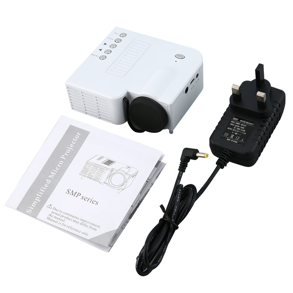UC28B Mini Portable LED Projector 1080P Family Cinema Home Theater USB TF Card Input Mini Beamer
