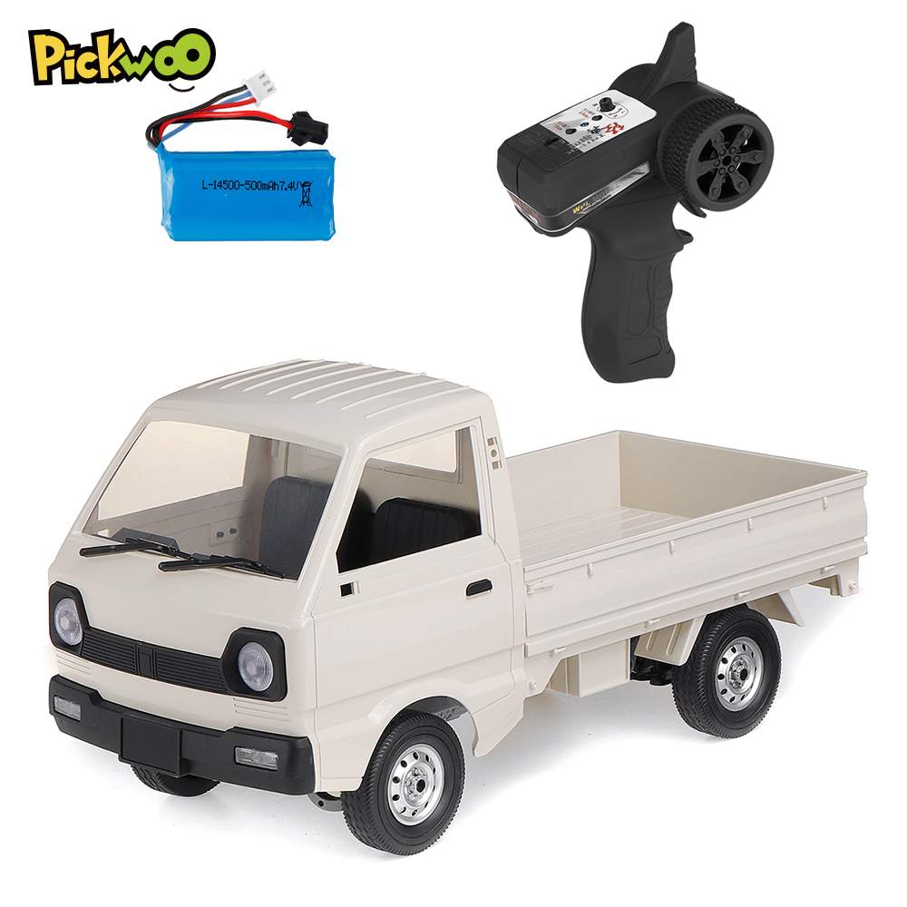 Pickwoo WPL D12 1/10 2.4G 2WD Military Truck Crawler Off Road Remote Control RC Car Vehicle Models Toy