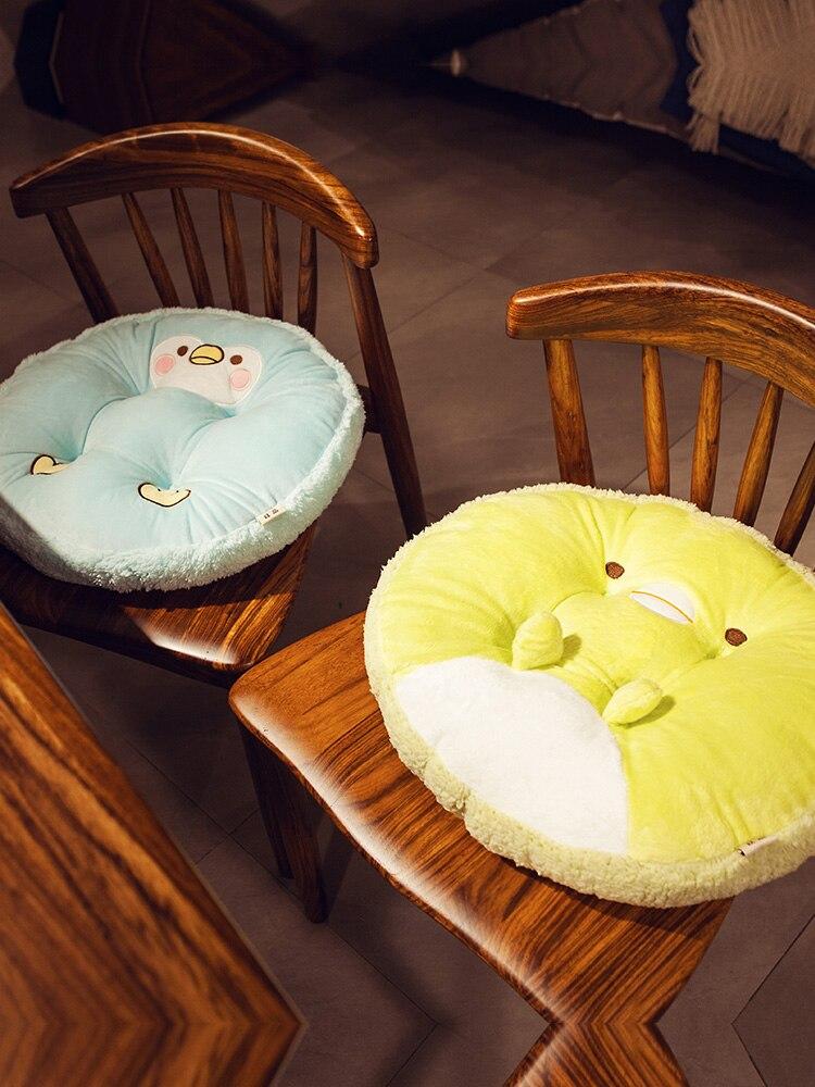 Nueva almohada redonda gruesa para respaldo de sofá, cojín de asiento, banco grande, cojín moderno, almohada de terciopelo, relleno cojin, textil para el hogar EE60ZD