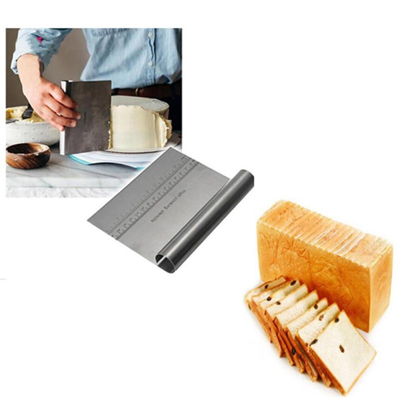 Espátula de acero inoxidable para Pizza, cortador de masa, herramienta de cocina, Espátulas para repostería, utensilios de cocina para decorar pasteles