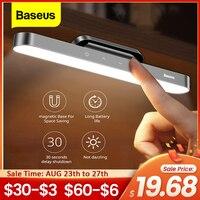 Baseus светодиодный настольная лампа Магнитная Настольная лампа подвесной Беспроводной сенсорный Ночной светильник для обучающая лампа для ...