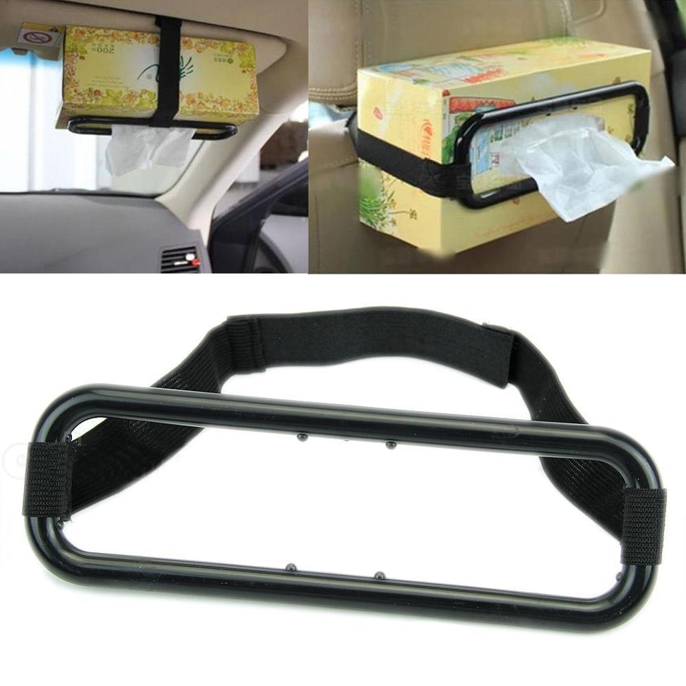 Soporte organizador portátil para coche accesorios para coche parasol para coche soporte para caja de pañuelos servilleta soporte de respaldo de asiento visor de coche montaje de tejido