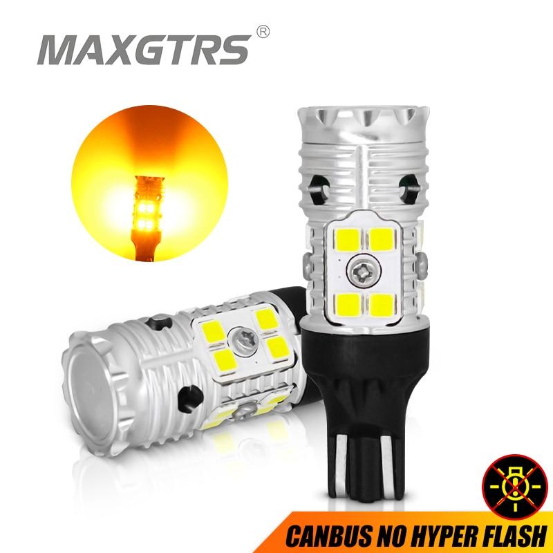 2x W16W T15 bombillas LED 3030 SMD Canbus OBC luz LED de respaldo sin errores 921 912 W16W bombillas LED Luz de marcha atrás de coche xenón blanco DC12V