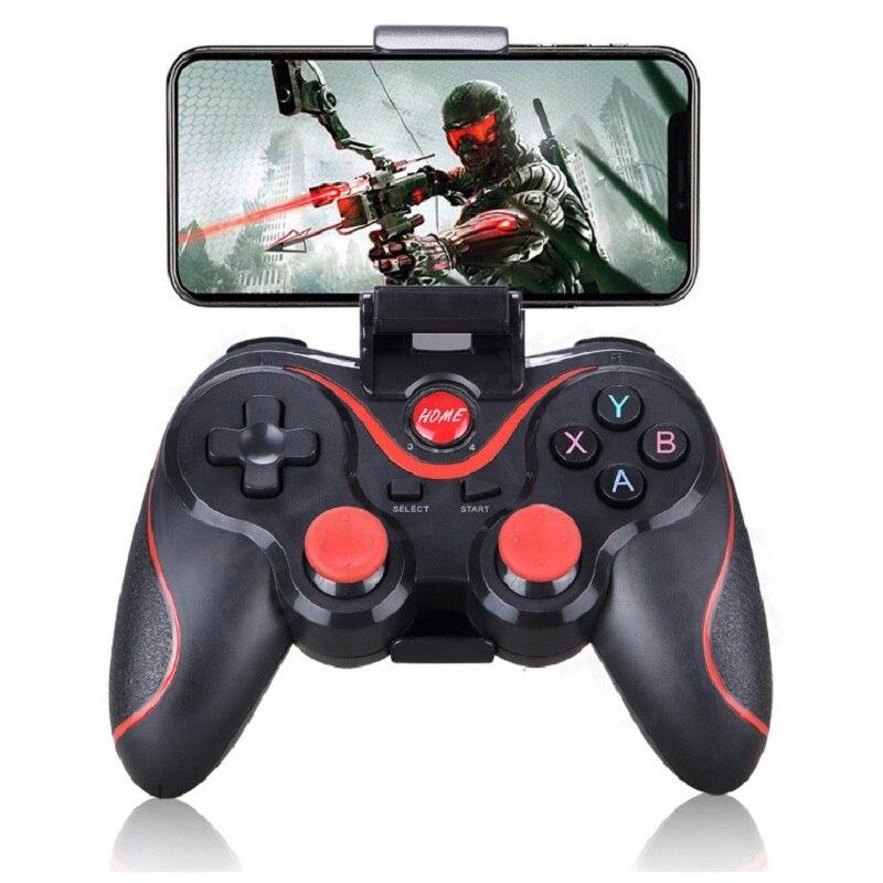 Беспроводной Android геймпад T3 X3 беспроводной джойстик игровой контроллер bluetooth BT3.0 джойстик для мобильного телефона планшета ТВ коробка держа...