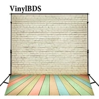 vinylbds background colorful brick wall backdrop wood floor backdrop naturism children photos baby photography backdrops