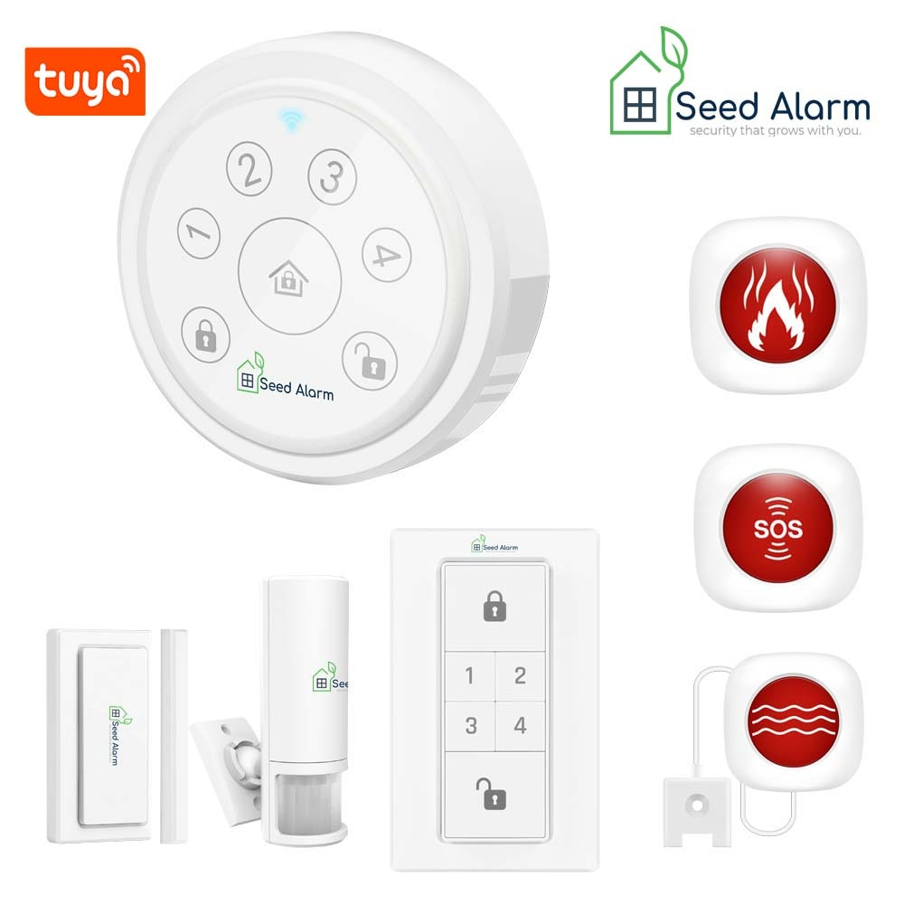 Tuya Wifi Alarma de ladrón para hogar seguridad de la casa Sistema...