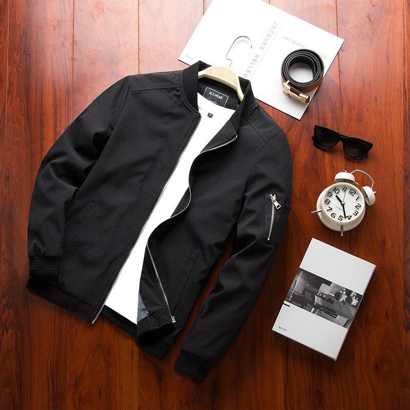 2021 Spring New Men's Bomber Zipper Jacket Male Casual Streetwear Hip Hop Slim Fit Pilot Coat Men Clothing Plus Size 4XL,TA214