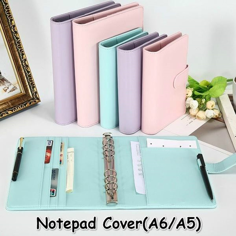 New Vintage Refillable Notebook File Folder Notepad Cover Leather Ring Binder Office Supplies