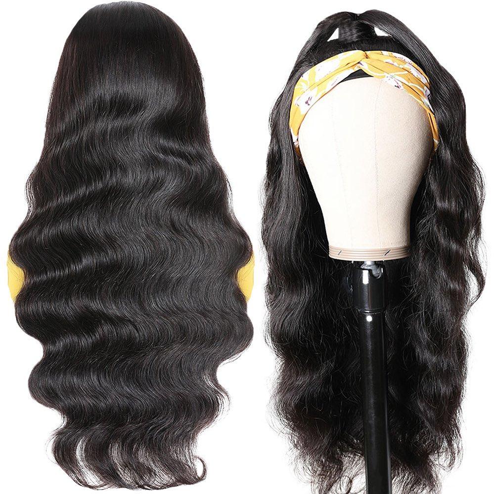 BLG-شعر مستعار طبيعي مموج ، عقال ، شعر بشري ، وشاح ، شعر ريمي ، مصنوع آليًا ، للنساء السود