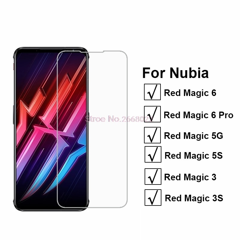 3-1PCS Protective Tempered Glass For ZTE Nubia Red Magic 6 Pro Pelicula For Vidrio Nubia Red Magic 5G 5S 3 3S Screen Protector