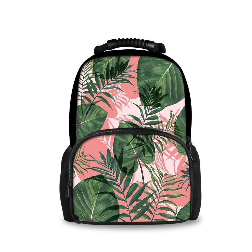 2020 latest customizable plant printing youth school bag student men and women backpack female