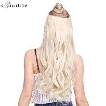 SNOILITE, caída a la cintura, Clip sintético de rizado largo en extensiones de cabello de una pieza, peluca de media cabeza completa con 5 clips, negro, marrón