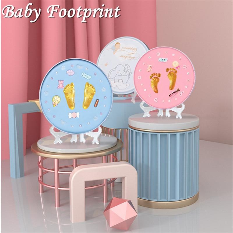 New Baby Footprint DIY Safe Newborn Baby Souvenirs Handprint Foot Print Imprint Kit Hand Casting paw print pad