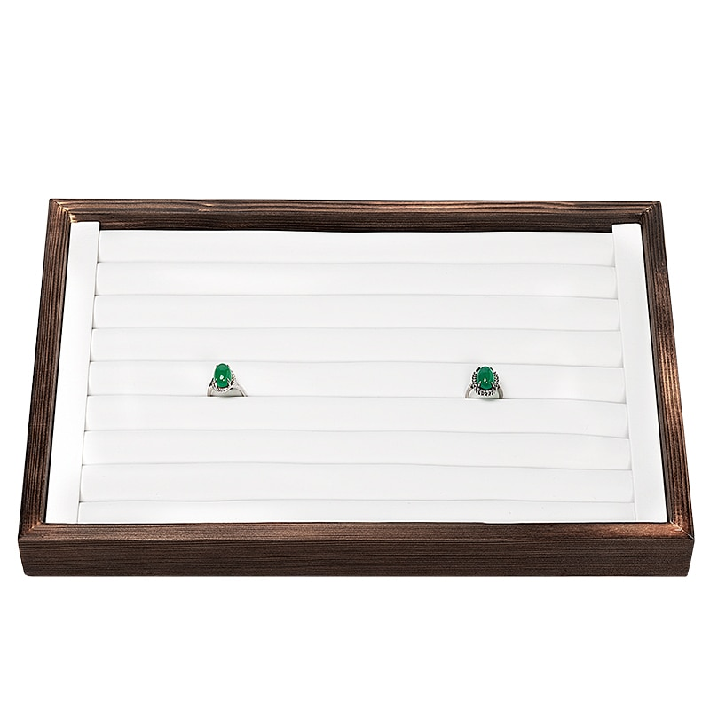 2020 New Arrivals Advanced   Wooden Tray Fashion Large Jewelry Display Organizer Box customizable For Ring Necklaces Bracelace