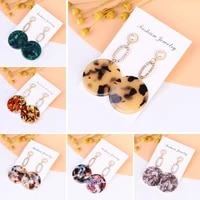 rattan female earrings geometric fashion bohemian unique female accessories shaking 2020 fashion jewelry