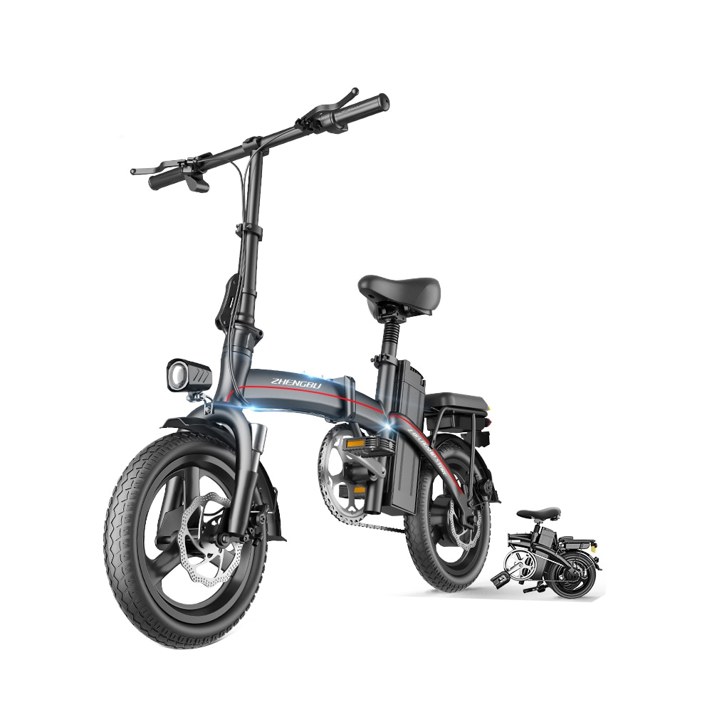 48V 400W 80Km Folding Electric Bicycle Motorcycle Lithium Battery Scooter Mini