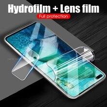 Film Hydrogel 2 en 1 pour Huawei Mate 30 Lite HD Film dobjectif de caméra arrière pour Huawei Mate 30 20 Pro V30 Pro Nova 6 SE P Smart Z 2019