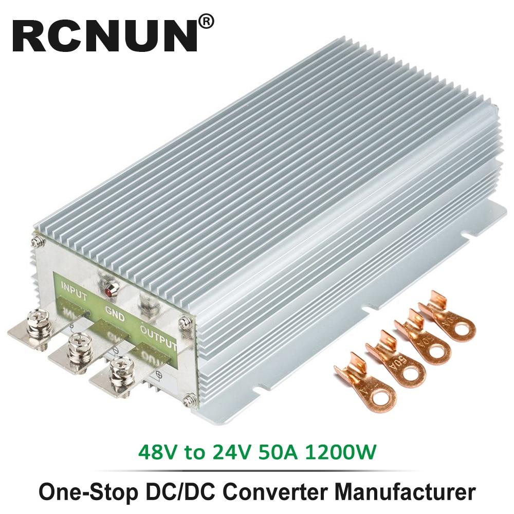 Преобразователь постоянного тока 48В в 24В 50А, понижающий регулятор напряжения, источник питания 1200 Вт, CE для электромобилей