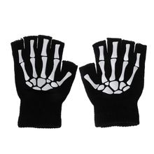 Cycling Gloves Kids Outdoor Sports Bicycle Half Finger Skeleton Soft Protective