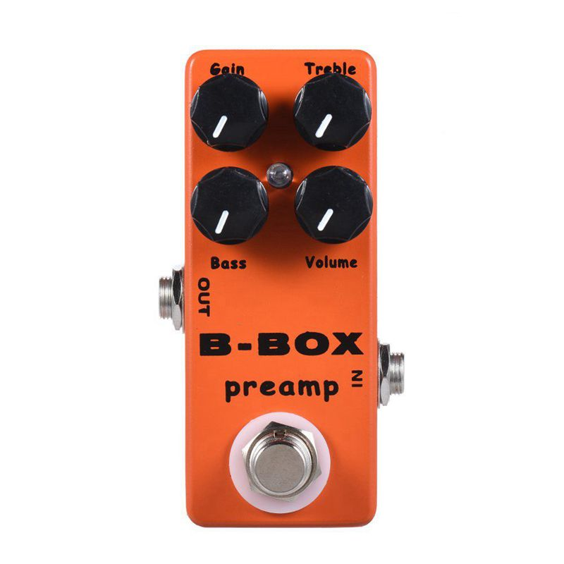 MOSKY B-Box электрогитара предусилитель Педаль Эффекта овердрайв полностью металлический корпус истинный обход гитары Запчасти для бас-гитары и аксессуары