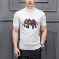 cashmere soft fabric knitted t shirt style hot sale diamond craft classic custom spring slim mens sweater