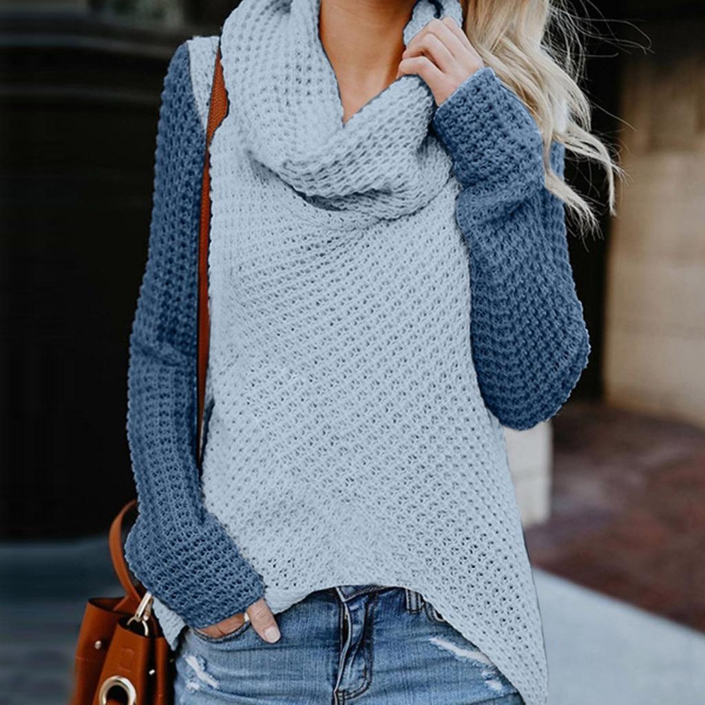 Jersey a la moda para mujer, suéter con hombros descubiertos, suéter informal de manga larga, suéter de manga larga, Sweatshit para mujer, blusa superior
