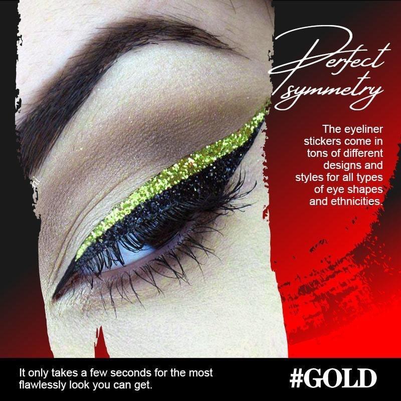 6 Pairs Reusable Eyeliner Stickers Makeup Invisible Self-adhesive Eye Line Strip Sticker Eye Makeup