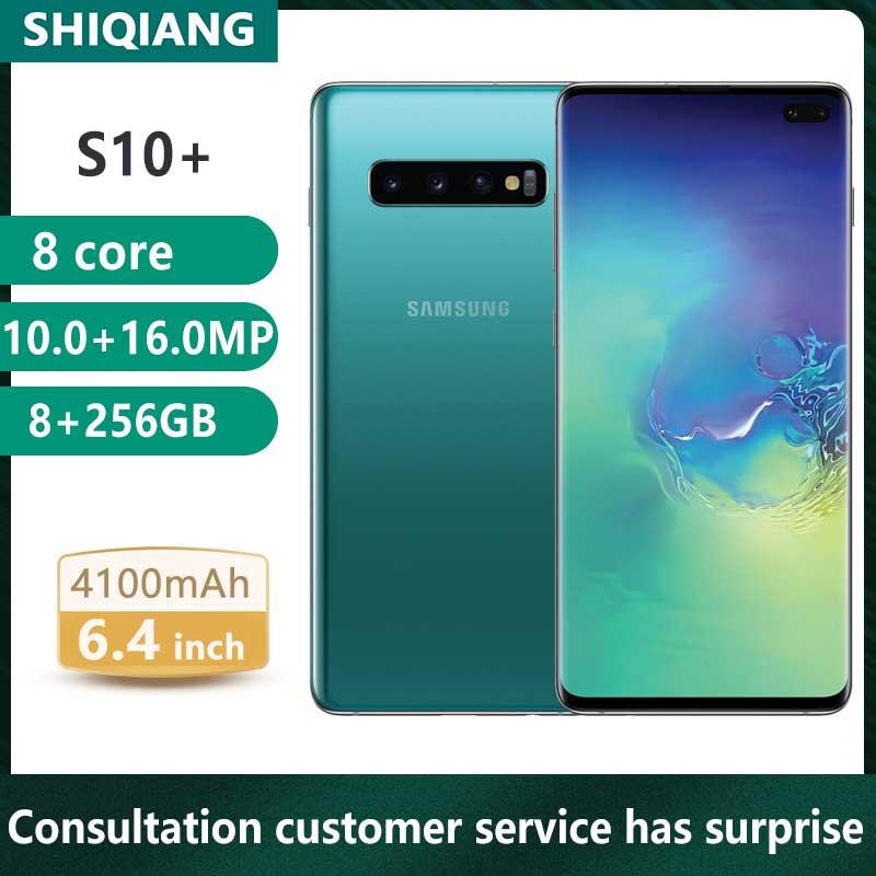 Unlock Used Original Samsung S10Plus S10+ Qualcomm Snapdragon 855 Smartphones 126/256/512GB NFC WCDMA/GSM/LTE/WCDMA 5 Cmera NFC