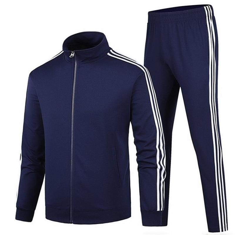 2021 خريف شتاء جديد ملابس رياضية للرجال 2 جاكيتات رجالية عادية جاكيت زيبرا ملابس رياضية + بنطلون ملابس رياضية ملابس رياضية للرجال