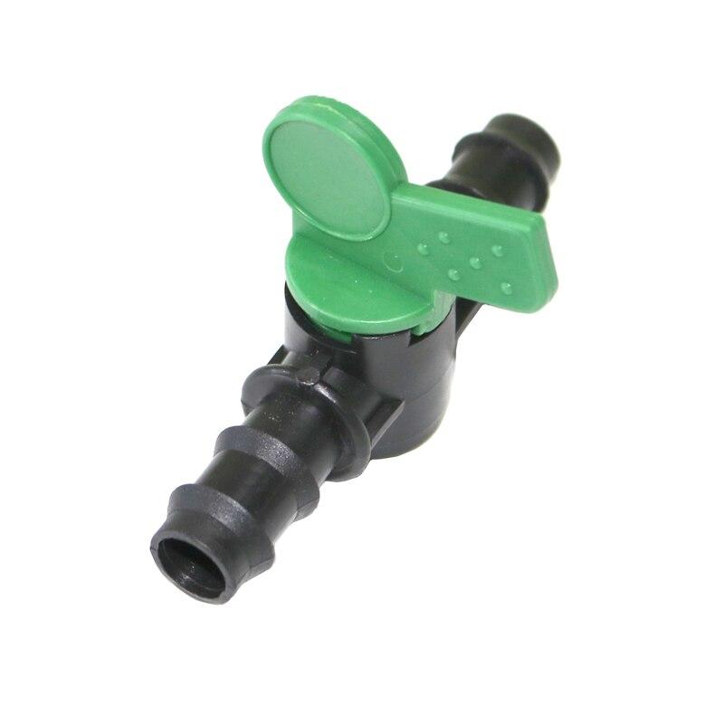 VÁLVULA DE control DE FLUJO de agua de riego 1/2 conector de manguera de jardín en pulgadas conector de tubería de agua de montaje para invernadero de agricultura 2 uds