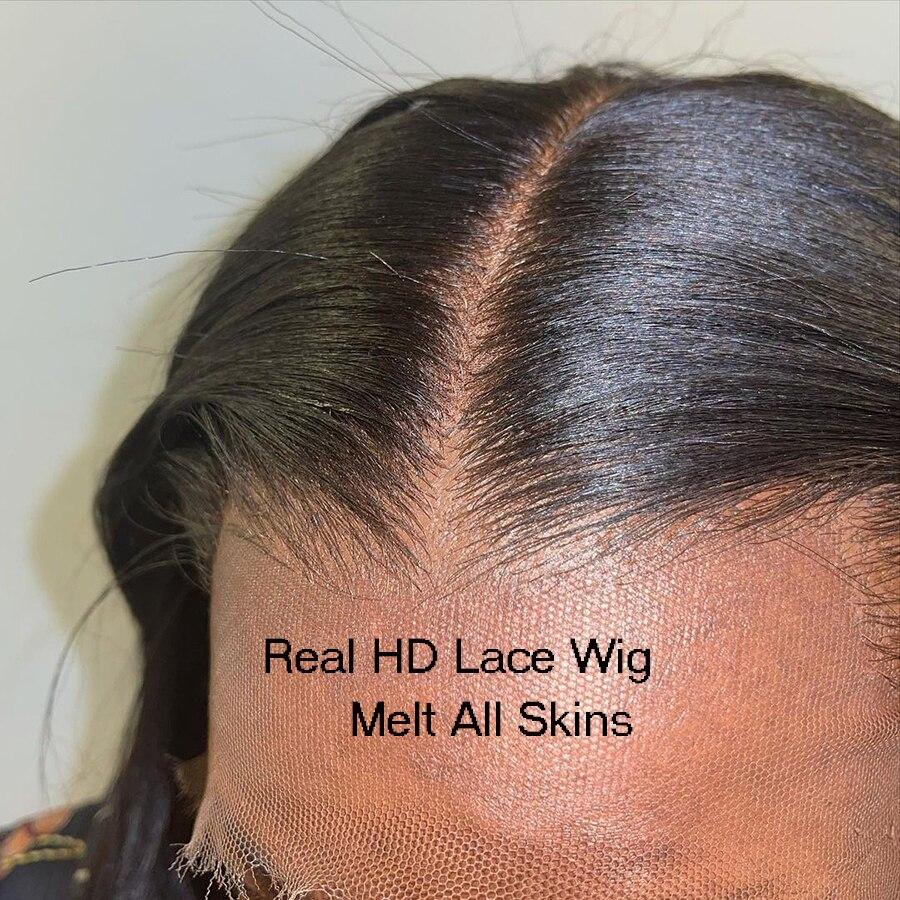 reta pre arrancado 134 completa hd frente do laco transparente perucas de cabelo