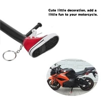 1 pc creative tripod cover for motorcycle bicycle side shoe shape foot support electric bike tripod decor mini shoes key chain