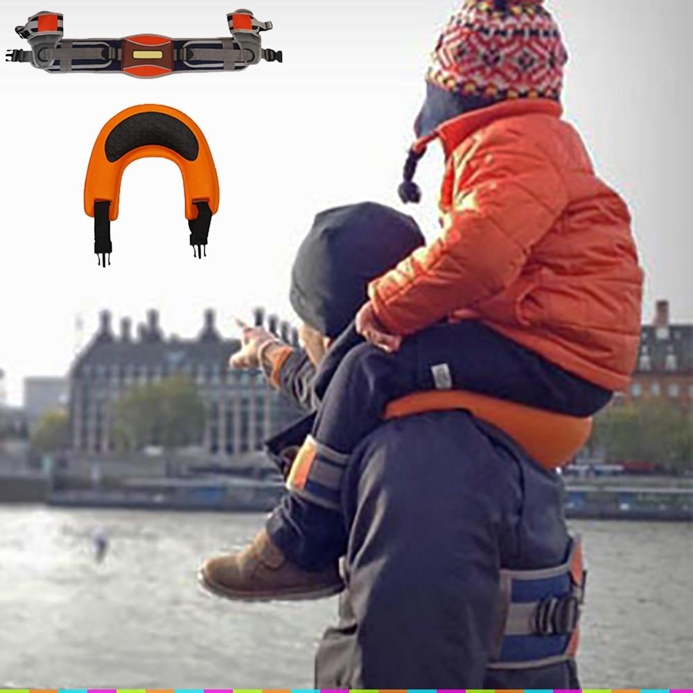 في الهواء الطلق المحمولة كسول السرج حر اليدين الكتف الناقل الطفل الآمن الطفل حزام متسابق السرج الكتف مرنة الطفل تسخير