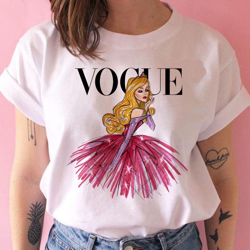 Camiseta de princesa Vogue con estampado de grunge femenino 2020, camiseta a la moda, camisetas divertidas, camisetas de los años 90, ropa gráfica para chica a la moda