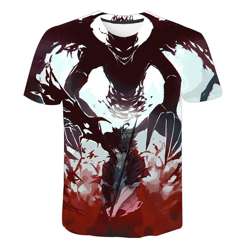 Black Clover 3D Print T-shirt Men Women Fashion O-Neck Short Sleeve T Shirt Anime Harajuku Streetwear Tees Tops Hip Hop Clothing