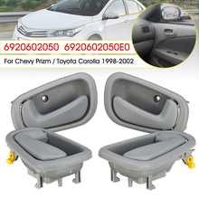 4pcs Interior Door Handle Inside Door Handles For Toyota Corolla Geo Prizm 1998 1999 2000 2001 2002 6920602050 Gray