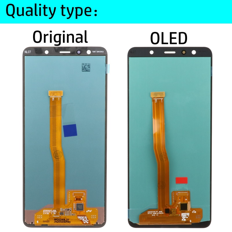 6.0'' Super AMOLED LCD For Samsung Galaxy A7 2018 A750 SM-A750F A750F Display With Touch Screen Assembly Replacement Part enlarge