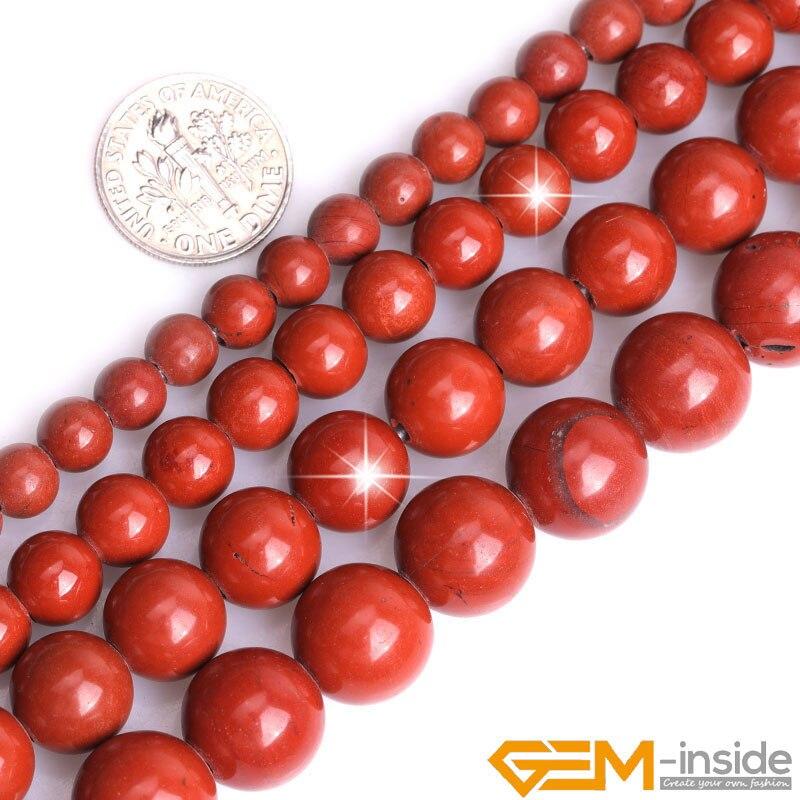 Jaspers naturales 2mm de agujero grande redondo cuentas sueltas para la fabricación de joyería hebra 15 pulgadas DIY pulsera collar cuenta de joyería 6mm 8mm 10mm
