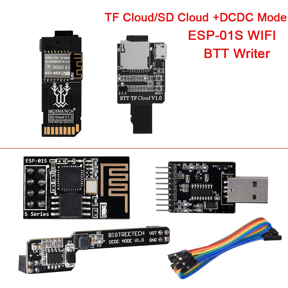 BIGTREETECH TF سحابة/SD سحابة وحدة ESP-01S WIFI DCDC وضع BTT الكاتب 3D طابعة أجزاء ل SKR V1.4 توربو اندر 3
