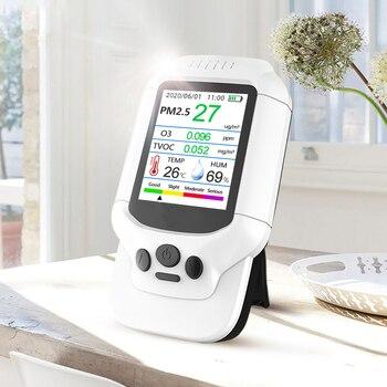 Portable Ozone Meter O3 Detector 0-5ppm Range O3 Tester Monitor Air Quality Detector TVOC PM2.5 Analyzer Sensor Gas Detector