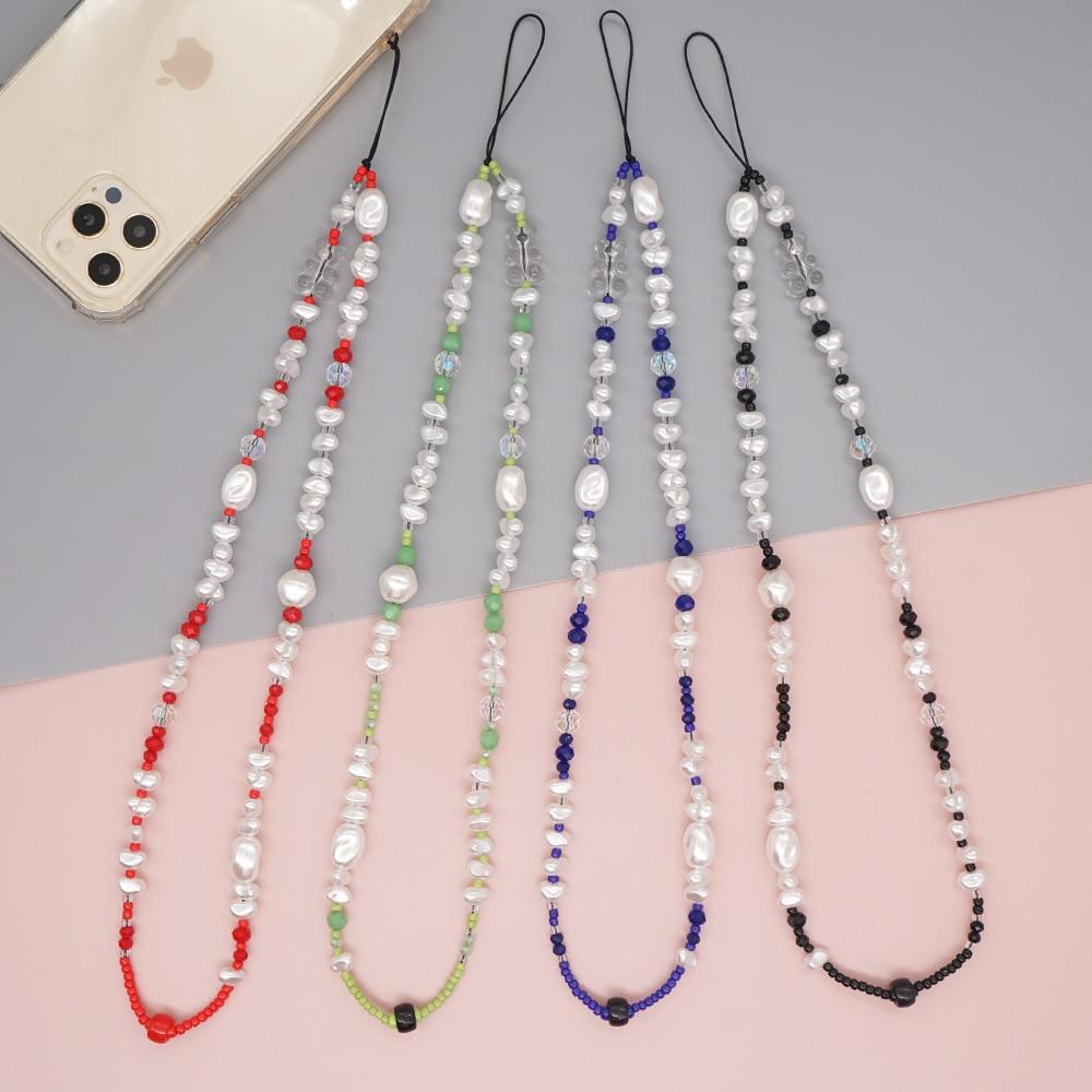 Go2Boho – chaîne de téléphone portable en perles, ours, lanière de téléphone, bijoux, longues chaînes perlées pour téléphone portable, cordon Anti-perte