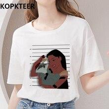 Femmes vêtements 2019 été Harajuku t-shirt Camiseta Mujer princesse Mulan graphique t-shirts t-shirt Femme Ulzzang Vogue hauts