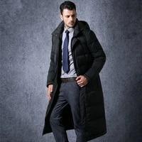 mens long duck down jacket men winter coat plus size thick business british coats male parka casaco masculino kj660