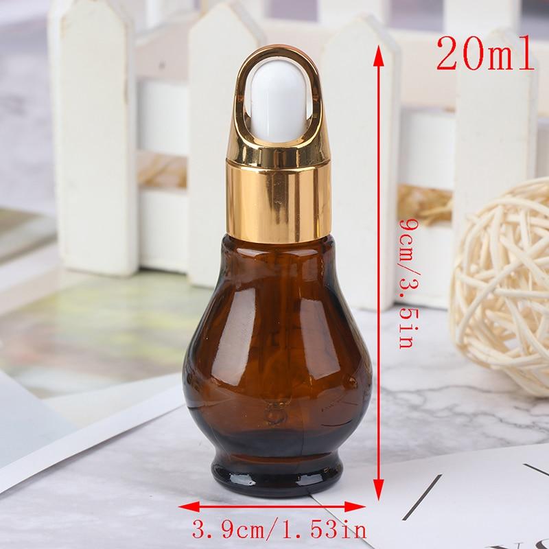 10/20/30ml Essential Oil Perfume Bottles Amber Glass Dropper Bottle Empty Container Travel Refillable Bottle New